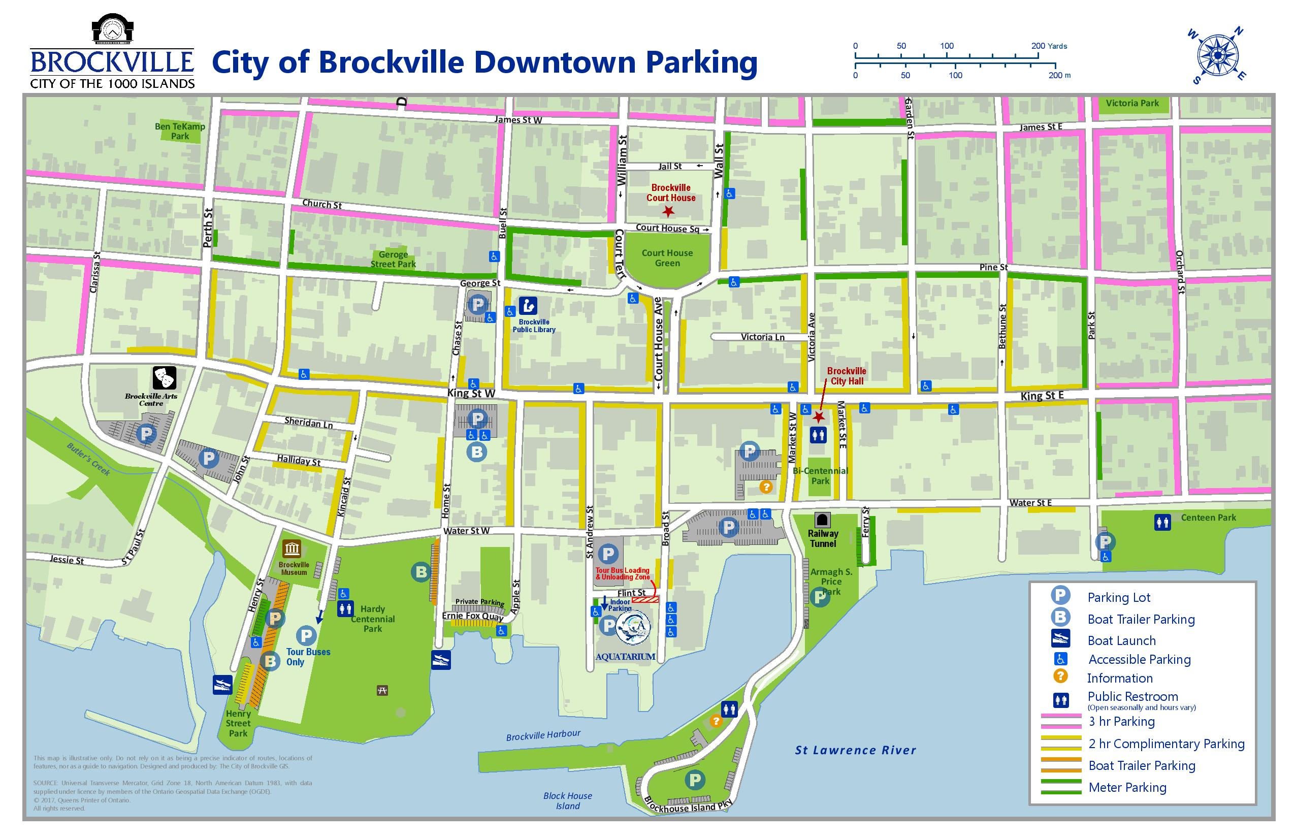 Brockville Parking Map